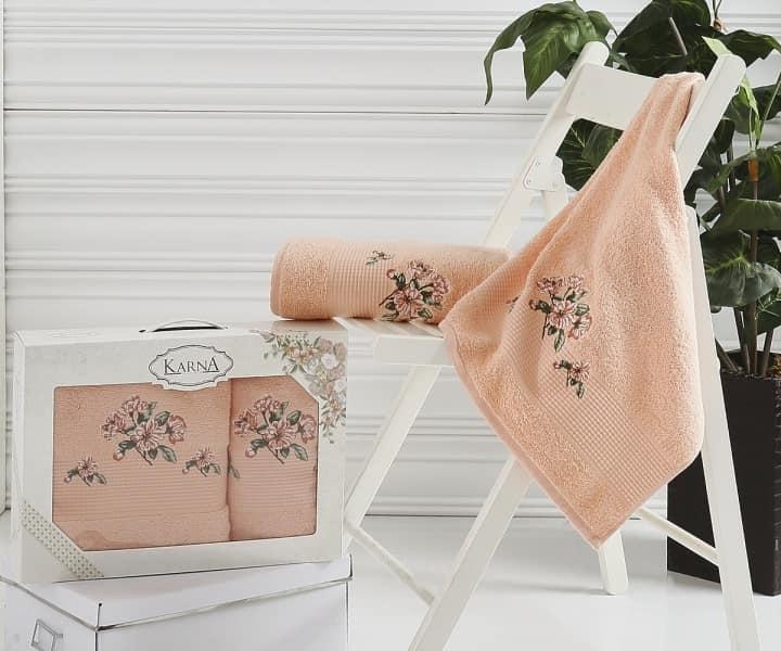 Салатовый с абрикосовым фото ткани